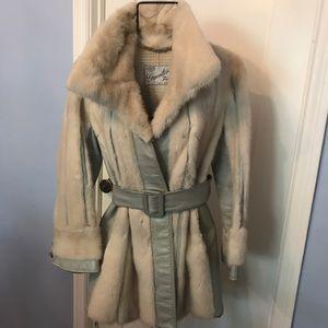 Custom Made Leather and Mink Jacket